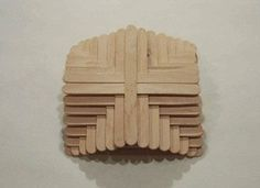 How to make a recycled model. Popsicle Stick Cross - Step 4