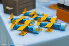 Aeroplane First Birthday Party This adorable Aeroplane themed First Birthday Party was submitted by Barbara Peres of Brazil. The party backdrop is just the sweetest including a felt Aviator with hi… Airplane Party Favors, Vintage Airplane Party, Planes Party, 1st Boy Birthday, 4th Birthday Parties, Clear Balloons, Backdrops For Parties, Childrens Party, Birthday Decorations