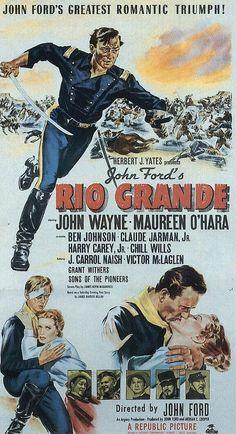 Nice Movie posters: John Wayne Movie Posters Rio Grande ist ein US-amerikanischer Western von Regiss... posters Check more at http://kinoman.top/pin/36891/