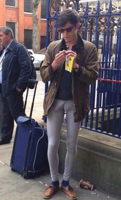 Nut-hugging pants.   20 Things Men Over 30 Should Never Wear