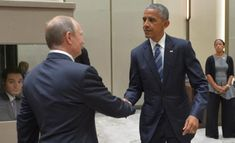 Russian President Vladimir Putin meets with President Barack Obama on the sidelines of the G20 Summit in Hangzhou, China, in 2016.