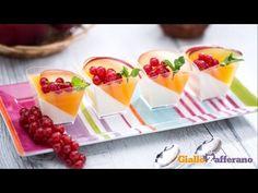 Panna cotta allo yogurt con gelatina alla pesca - YouTube