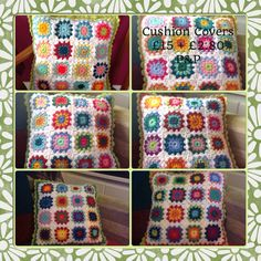 Hand made starburst crocheted cushion covers are to order!