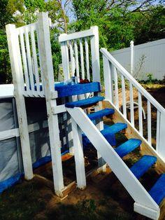 INTEX DIY pool steps