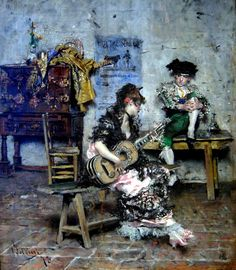 A Guitar Player  - Giovanni Boldini, 1873