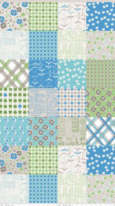 """Great example of a """"cheater quilt""""print:  Millie's Closet Fabric Designer Cloth in by StashModernFabric, $3.50"""