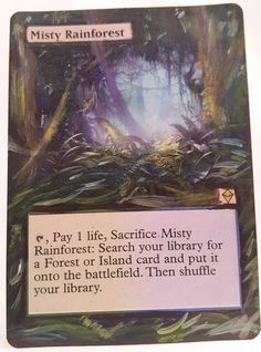 Misty Rainforest This Is Only One Of My Altered Cards From This Weeks Batch! To See Them All Go To   http://stores.ebay.com/MTGAlteredMagicCards #MTG #MtgAltered #MtgAlteredArt #MtgHandPainted #MtgExtendedArt #Magic #MagicTheGathering #MtgAlter #Wotc #Scg #Tcg