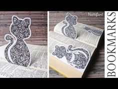 This is probably the most beautiful Flower Cat Bookmark you have ever seen. Created with love from me for you to color and keep or gift to loved ones!