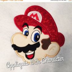 BIG SALE Mareo Head Video Game Applique Embroidery Machine Design 4 sizes Instant Download