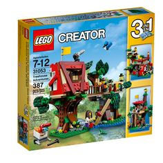 LEGO Creator - Treehouse Adventures and over 7,500 other quality toys at Fat Brain Toys. Help build a treehouse that's packed with exciting features and functions. Includes 2 minifigures, plus a frog and a blue jay. Rebuilds into a clubhouse or a tree fort.