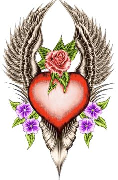 Animated Gif by Scal Heart With Wings, I Love Heart, Gifs, Coeur Gif, Animated Heart, Animated Gif, Hearts And Roses, Heart Wallpaper, Animation