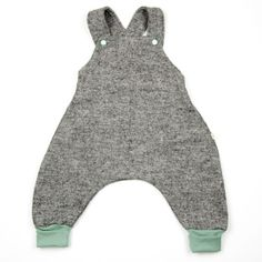 MONKIND Berlin - Latzhose mint // woolen dungarees with mint trim // bio // organic