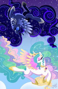 Day and Night princess Arte My Little Pony, Dessin My Little Pony, My Little Pony Poster, My Little Pony Cartoon, My Little Pony Princess, My Little Pony Twilight, My Little Pony Characters, My Little Pony Drawing, My Little Pony Pictures
