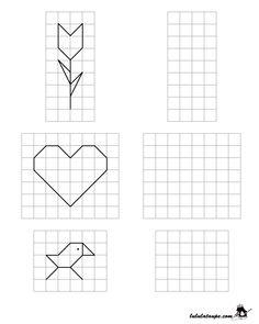 Dessins simples à reproduire sur quadrillage, CE1 | Dessin quadrillage, Quadrillage ce1, Art et ...