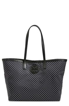 In love with this Tory Burch polka dot tote.