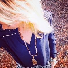NEW CO 💙  blouse MAYA • jupe AZTECA • sautoir MAHE • bracelet AQUA & EMMA 💙  shop ➳ www.boheme-shop.com #lookoftheday#photography#newcollection#2017#followme#etsyshop#clothes#skirtAzteca#tunicMaya#jewelry#handmade#longnecklace#Mahe#pearl#tassel#braceltAqua#emma#love#live#boheme#boholuxe#bohoinspo#bohofashion#bohemian#hippie#chic #gypsystyle#gypsyset #shoponline Boho Hippie, Emma Love, Gypsy Life, Gypsy Style, Maya, Tassel, Handmade Jewelry, Pearl, Bracelet