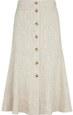 Shop for CC Natural Linen Skirt at ShopStyle. Long Skirt Outfits, Casual Outfits, Fashion Outfits, Fashion Skirts, First Date Outfits, Tailored Coat, Types Of Skirts, Linen Skirt, Natural Linen