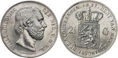 Koninkrijk der Nederlanden, Willem III (1817-1890), 'Rijksdaalder' 2 1-2 Gulden, 1857.