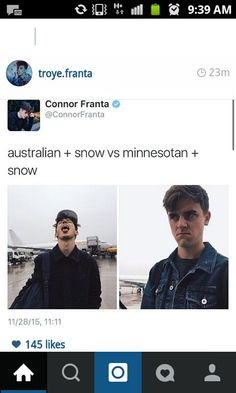 Troye sivan (Australian) Connor Franta (Minnesota) tronnor