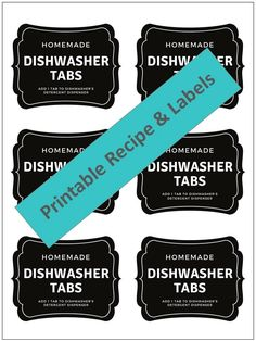 easy-to-make homemade natural dishwasher detergent tabs and they REALLY WORK! Cleans stuck-on food, gets silverware shiny, & glasses sparkling! DIY essential oil recipe for dishwasher detergent tabs. Dishwasher Tabs, Homemade Dishwasher Detergent, Natural Laundry Detergent, Homemade Cleaning Products, Natural Cleaning Products, Cleaning Tips, Green Cleaning, Cleaning Supplies, Eco Products