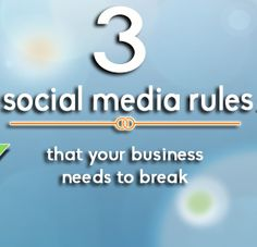 Three Social Media Rules Your Business Needs to Break via Social Media Today Marketing News, Social Media Trends, New Market, Explain Why, Meant To Be, Dating, Business, Quotes, Store