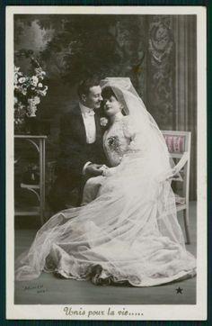 Wedding 1910s Photo Postcard