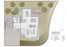 Idea Musterhaus Wienna by SoNo arhitekti in Vienna, Austria Modern Wood Furniture, House Plans With Photos, Prefabricated Houses, Minimalist Kitchen, Architecture Plan, House Floor Plans, Vienna, Landscape Design, Exterior