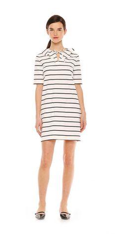 Joe Fresh Stripe Ruffle Shift Dress