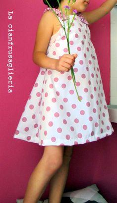 Come cucire un vestitino estivo per bimba Spiegazioni e Cartamodello