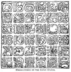 Gallery For > Mayan Hieroglyphics Translation Chart Tattoo Deus, Mayan Glyphs, Aztec Art, Mesoamerican, Illustration, Mayan Ruins, Ancient Jewelry, Native American Art, American Symbols