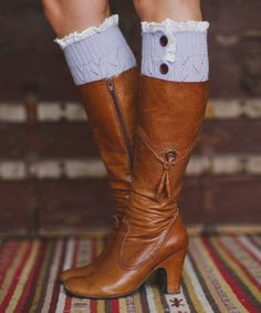 Look at this Lilac Button-Up Boot Cuffs on #zulily today!