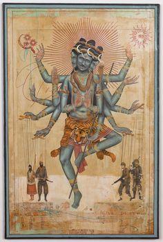 Shiva - the Tandav Shiva Art, Hindu Art, Indian Gods, Indian Art, Rick Genest, Terry Fan, Lord Shiva Painting, Diane Arbus, Hindu Deities