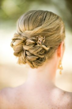 Stunning updo: http://www.stylemepretty.com/little-black-book-blog/2014/09/16/rustic-diablo-ranch-wedding/ | Photography: Jasmine Lee - http://www.jasmineleephotography.com/