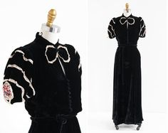 vintage 1930s dress / 30s evening gown / Black by RococoVintage