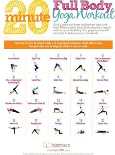 20 Minute Full Body Yoga Workout [Guide] [Infographic] | Daily Infographic