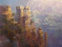 Sunrise, Grand Canyon Oil on Canvas by Richard Robinson Hi guys, been slogging away on this one for 2 weeks now - not my usual method. Monet, Painting Tips, Art Oil, Oil On Canvas, Bing Images, Waterfall, Workshop, Places To Visit, Fine Art