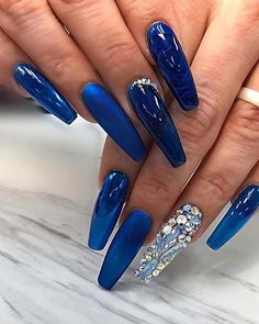 23 Chic Blue Nail Designs You Will Want to Try ASAP  - blue nails - #ASAP #blue #chic #designs #Nail #Nails