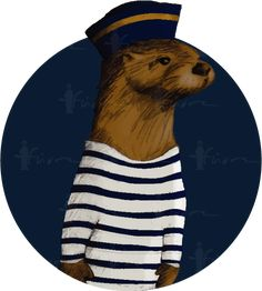FOR SALE! Le Petit Marin, a sketchy #nautical #logo on colonial #blue and #gold #Pantone colours. Come from the #childhood memories of the #sea, represented by the most #cute creature on this planet, a #seaotter, the little #sailor   For #artisan businesses e.g. #chocolatelogo, #French #Italian products, #kidfashion and more. Guidelines and my contact detail here: https://drive.google.com/file/d/1V7vSvgSBzxdd7PP43UWTn9idc83D8HeB/view?usp=drivesdk  #ocean #logoforsale