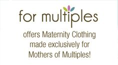 Maternity Clothes from MoM's to be. Love that they ACTUALLY fit! For more information about Twins, Triplets or More please visit us at multiplesandmore.com