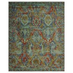 nuLOOM Vintage Distressed Floral Blue Rug (8' x 10') - 19354887 - Overstock.com Shopping - Great Deals on Nuloom 7x9 - 10x14 Rugs