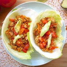 30 minute Enchilada Lettuce Wraps (Paleo, GF)- a healthy way to get your taco craving fix!