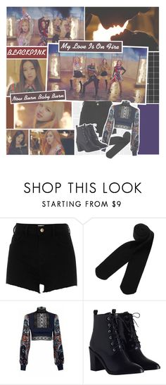 Designer Clothes, Shoes & Bags for Women Blackpink Playing With Fire, Monki, River Island, Pop, Shoe Bag, Inspired, Polyvore, Outfits, Collection