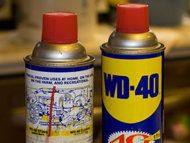 Need to try some of these... 13 Amazing Uses for WD-40  *Spray top of bird feeder: anti squirrels  *Separate stuck-together glassware  *Help get a ring off your finger  *Exterminate roaches, repel insects  *Remove chewing gum from hair  *Remove tough scuff marks from floors  *Wipe away tea stains from countertops  *Remove lime  gunk from toilet bowls  *doggie-doo Around The House, Cleaning Toilet Ring, Door, Clean Idea, Household Items, Diy Idea, 13 Amaz, Wd40, Info