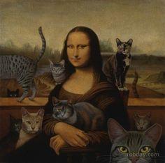 A Mona Lisa, le gustan los gatitos....