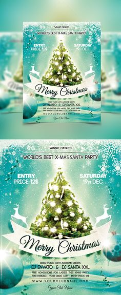 Christmas Party Flyer Template PSD #design #xmas Download: http://graphicriver.net/item/christmas-party-flyer/13447776?ref=ksioks