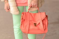 Mint green + coral = <3