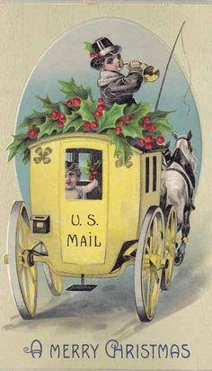 Vintage Christmas card US mail