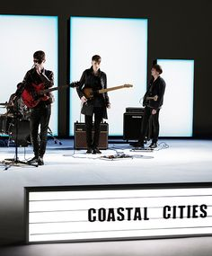 Coastal Cities performing their track 'Nothing Ever Changes' on the set of the Burberry Spark Sunglasses campaign