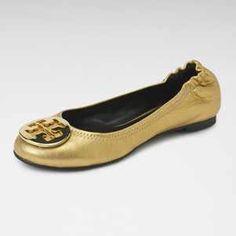 3c24cfc0e46 Tory Burch Reva Gold Flats Size 6.5  149 One Savvy Design Consignment  Boutique 74 Church Street