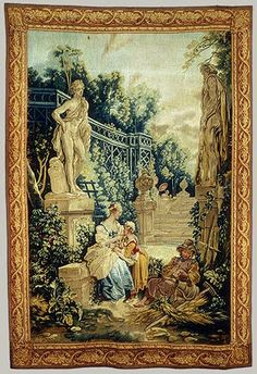 Le Jardinier: From the Fêtes Italiennes (Italian Village Scenes), 1734–36  Tapestry designed by Boucher and woven at the Beauvais workshop